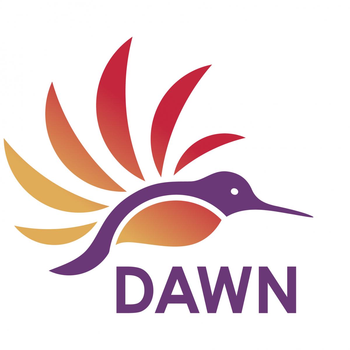 Logo de DAWN, un colibri.