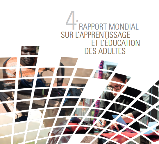 Page couverture du 4e Rapport mondial sur l'apprentissage et l'éducation des adultes.